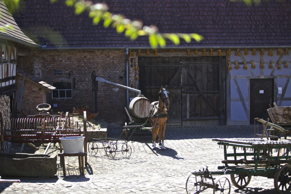 Photographie de la cours intérieure de la Maison Rurale de l'Outre-Forêt