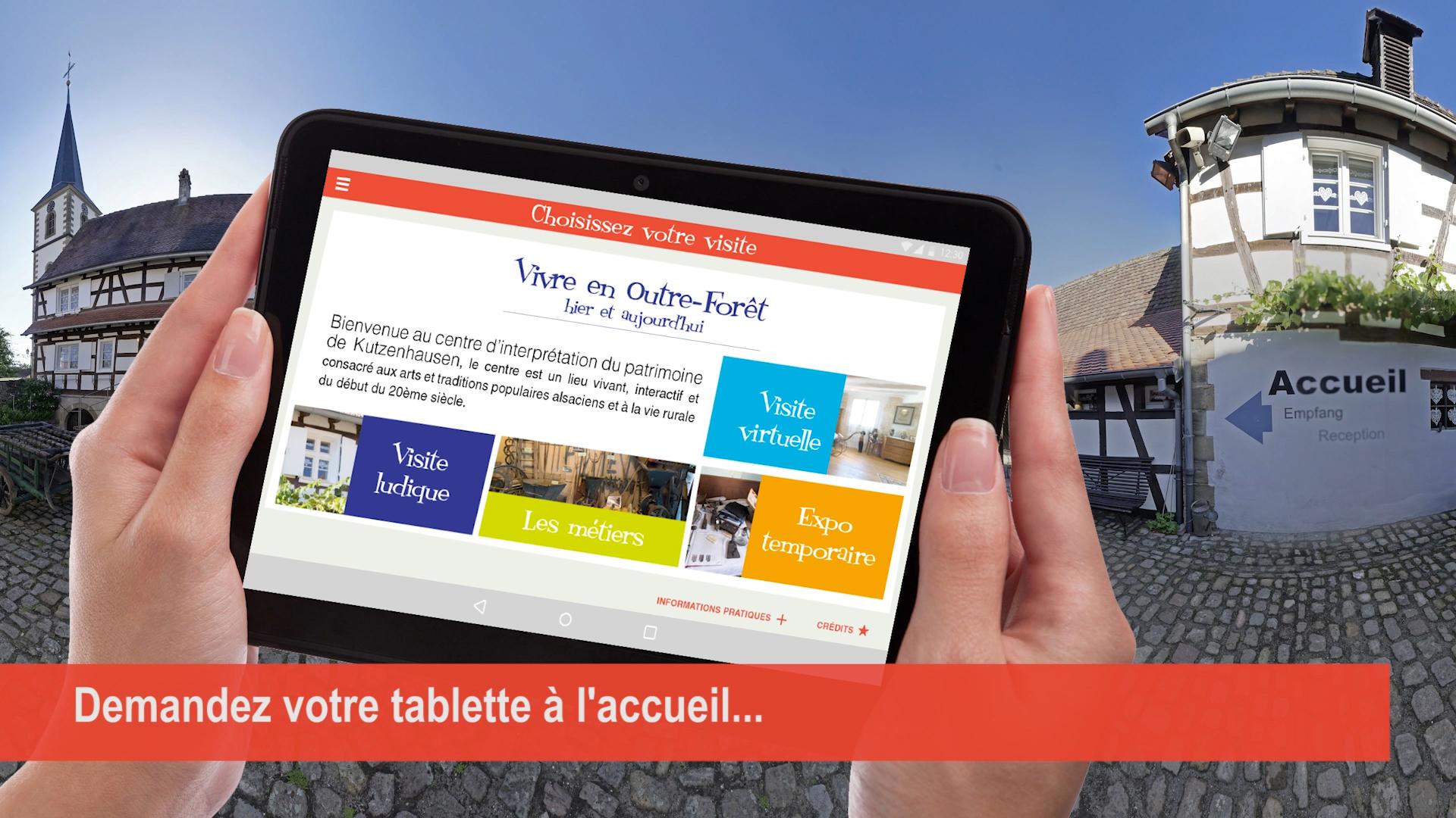 N'hésitez pas à demander une tablette à l'accueil