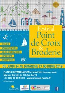 Affiche Festival point de croix et broderie 2019