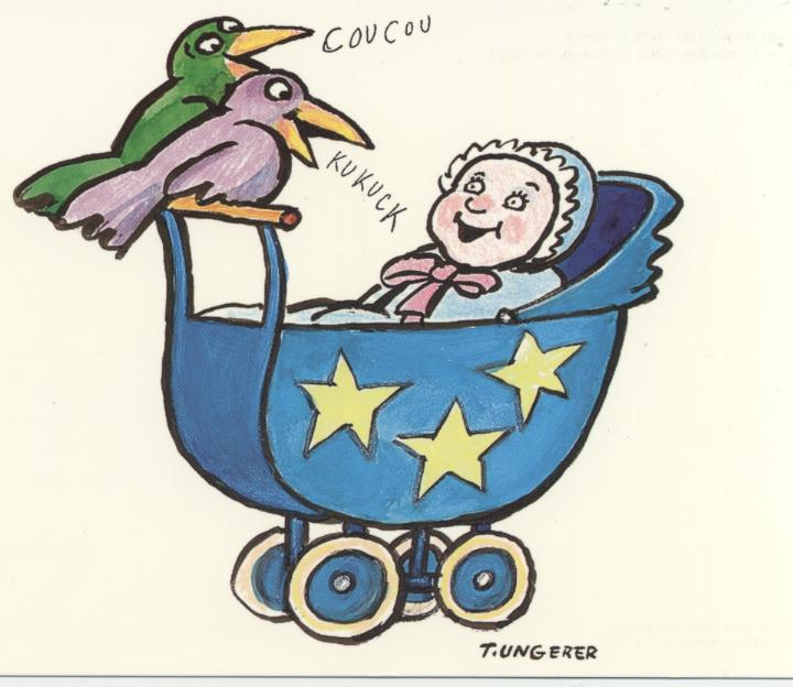 Coucou Kukuck Siebdruck, Tomi Ungerer