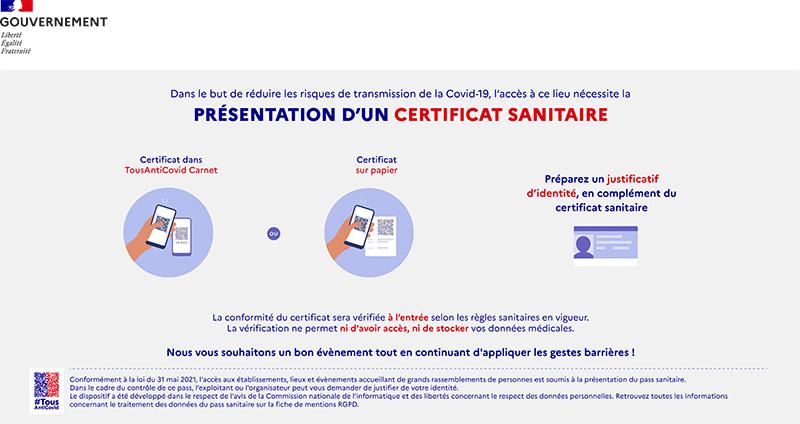 Certificat sanitaire